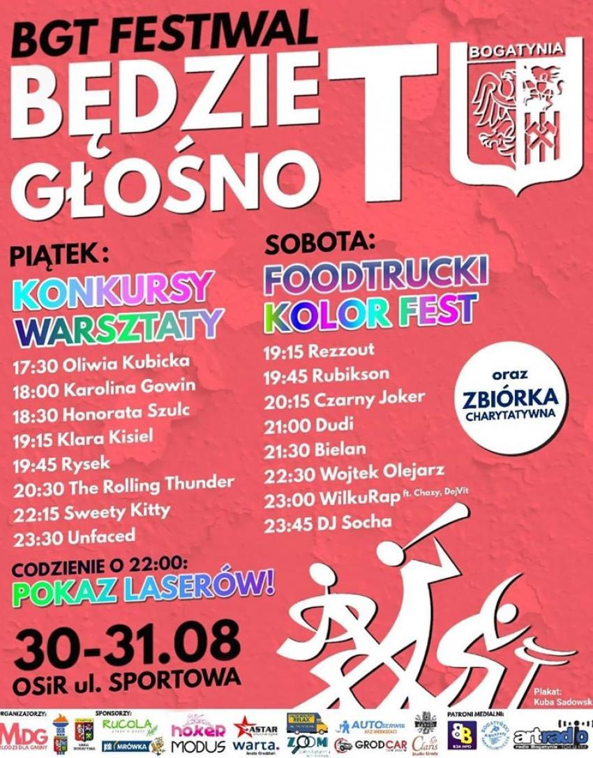 BGT Festiwal -Będzie głośno: program