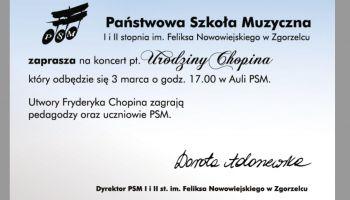 Zaproszenie na koncert pt.