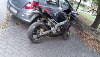 Odnaleziony w Zgorzelcu motocykl marki Kawasaki / fot. KPP Zgorzelec