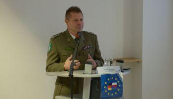Komendant Nadodrzańskiego Oddziału SG płk Tomasz Michalski / fot. NOSG