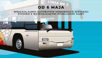 Od 6 maja autobusy komunikacji miejskiej zgodnie z rozkładem jazdy
