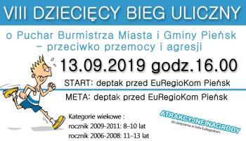 VIII Dziecięcy Bieg Uliczny w Pieńsku