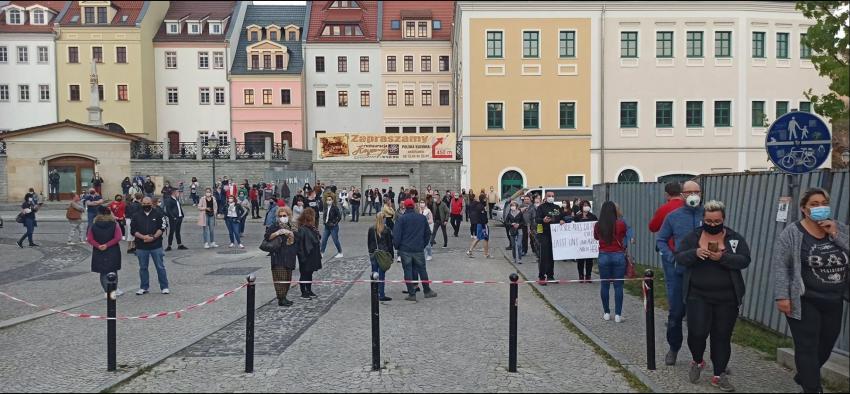 Protesty na polsko-niemieckiej granicy. Pracownicy transgraniczni domagają się otwarcia granic - zdjęcie nr 3