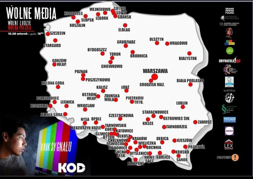 Manifestacja w obronie Wolnych Mediów i Wolności Słowa w Polsce
