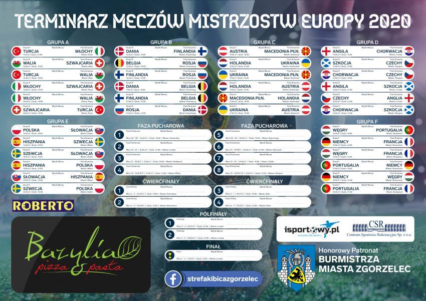 Terminarz meczów Mistrzostw Europy 2021 (2020) / Organizatorzy Zgorzeleckiej Strefy Kibica