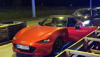 Skradziona na terenie Niemiec Mazda MX-5 / fot. Komenda Stołeczna Policji