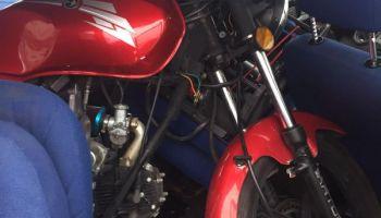 Skradziony motocykl przewożony w samochodzie / fot. KPP Zgorzelec