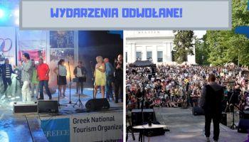 Główne wydarzenia kulturalno-rozrywkowe w mieście odwołane!