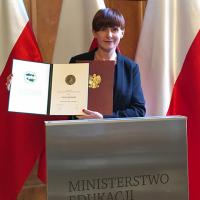 Aneta Dziurdź wyróżniona medalem i tytułem Nauczyciel Kraju Ojczystego