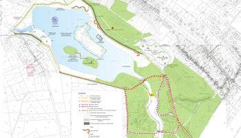 Wstępna koncepcja zagospodarowania Zalewu Czerwona Woda (materiały prasowe Urzędu Miasta Zgorzelec)