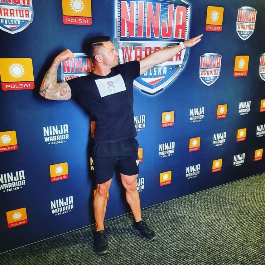 Kamil Kozłowski, mieszkaniec Zawidowa, w programie Ninja Warrior Polska 4 / fot. UM Zawidów