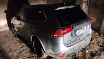 Skradzione w Niemczech Mitsubishi / fot. KPP Zgorzelec