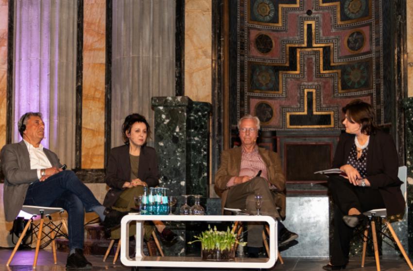 Otwarcie Dni Literatury nad Nysą w 2018 roku odbyło się w synagodze. Gościem była Olga Tokarczuk / fot. Axel Lange