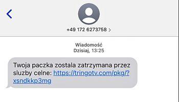 SMS: Twoja przesyłka została zatrzymana przez służby celne