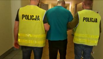 Doprowadzenie podejrzanego do sądu / fot. KPP Zgorzelec