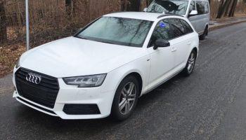 Skradzione w Niemczech Audi A4 / fot. KPP Zgorzelec