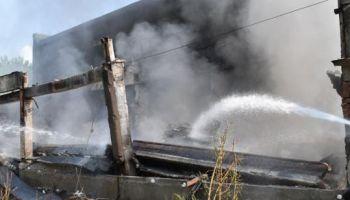 Pożar śmieci w Bogatyni / fot. KP PSP Zgorzelec