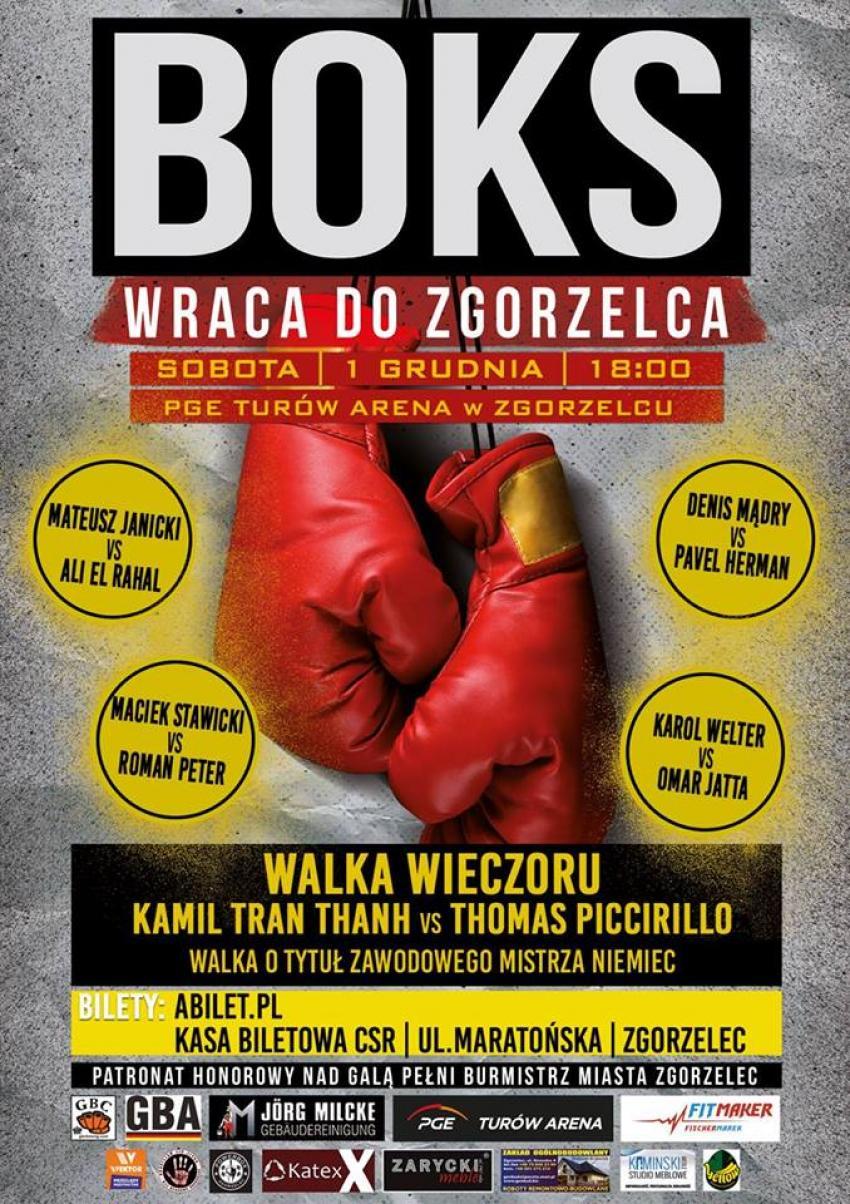Galę organizuje Klub Sportowy Karpiński -Boks ze Zgorzelca we współpracy z Aleksandrem Delijewskim (materiały prasowe)