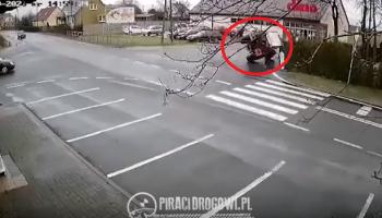 Kierowca ciągnika rolniczego za szybko wszedł w zakręt / prt sc www.piracidrogowi.pl