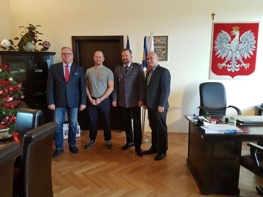 Od lewej: Mirosław Fiedorowicz, Wojciech Olszak, Janusz Lipski i Rafał Gronicz / fot. UM Zgorzelec