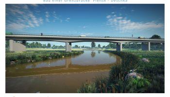 Most graniczny Pieńsk - Deschka (wizualizacja) / fot. DSDiK