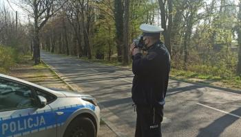 Pomiar prędkości przy ul. Bolesławieckiej w Zgorzelcu / fot. KPP Zgorzelec