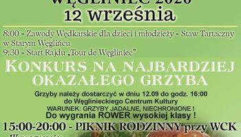 Gminne Grzybobranie Węgliniec 2020. Publikujemy program imprezy!