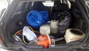 Sprawcy kilkudziesięciu kradzieży paliwa zatrzymani przez policjantów / fot. KPP Zgorzelec