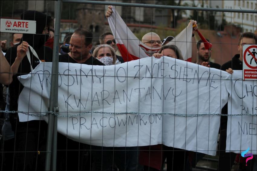 Protesty na polsko-niemieckiej granicy. Pracownicy transgraniczni domagają się otwarcia granic - zdjęcie nr 47
