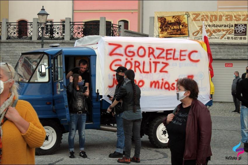 Protesty na polsko-niemieckiej granicy. Pracownicy transgraniczni domagają się otwarcia granic - zdjęcie nr 57