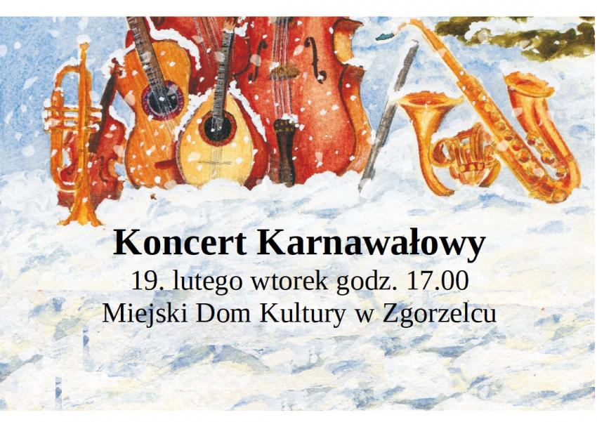 Zaproszenie na koncert karnawałowy