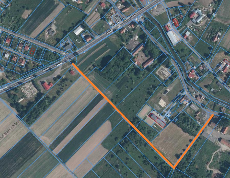 Przebudowywany odcinek drogi w Żarskiej Wsi