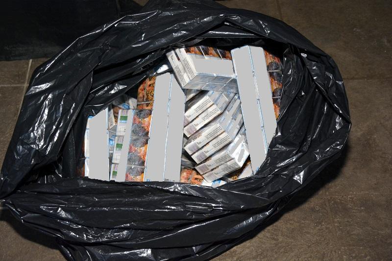 Zabezpieczone przez straż graniczą papierosy / fot. NOSG