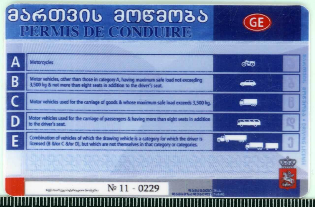 Podrobione gruzińskie prawo jazdy