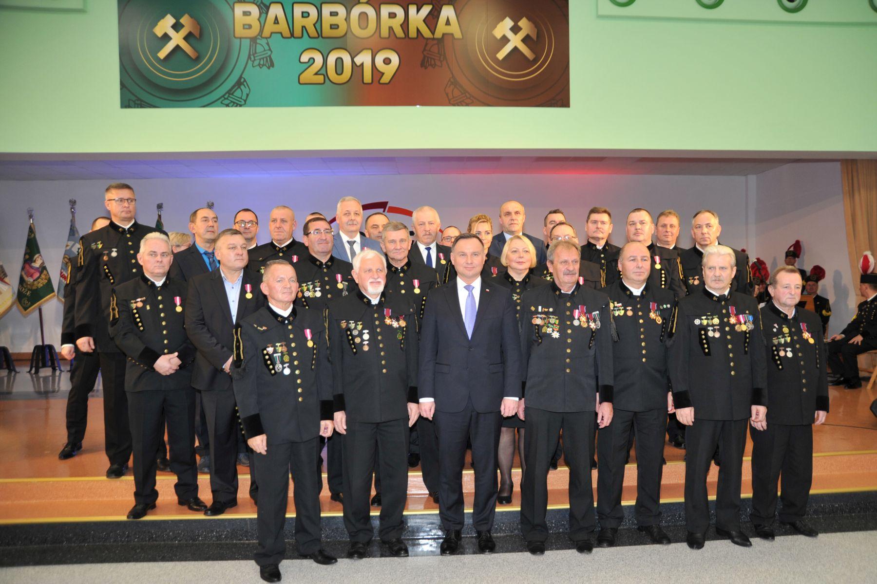 Prezydent Andrzej Duda na Barbórce w Turowie