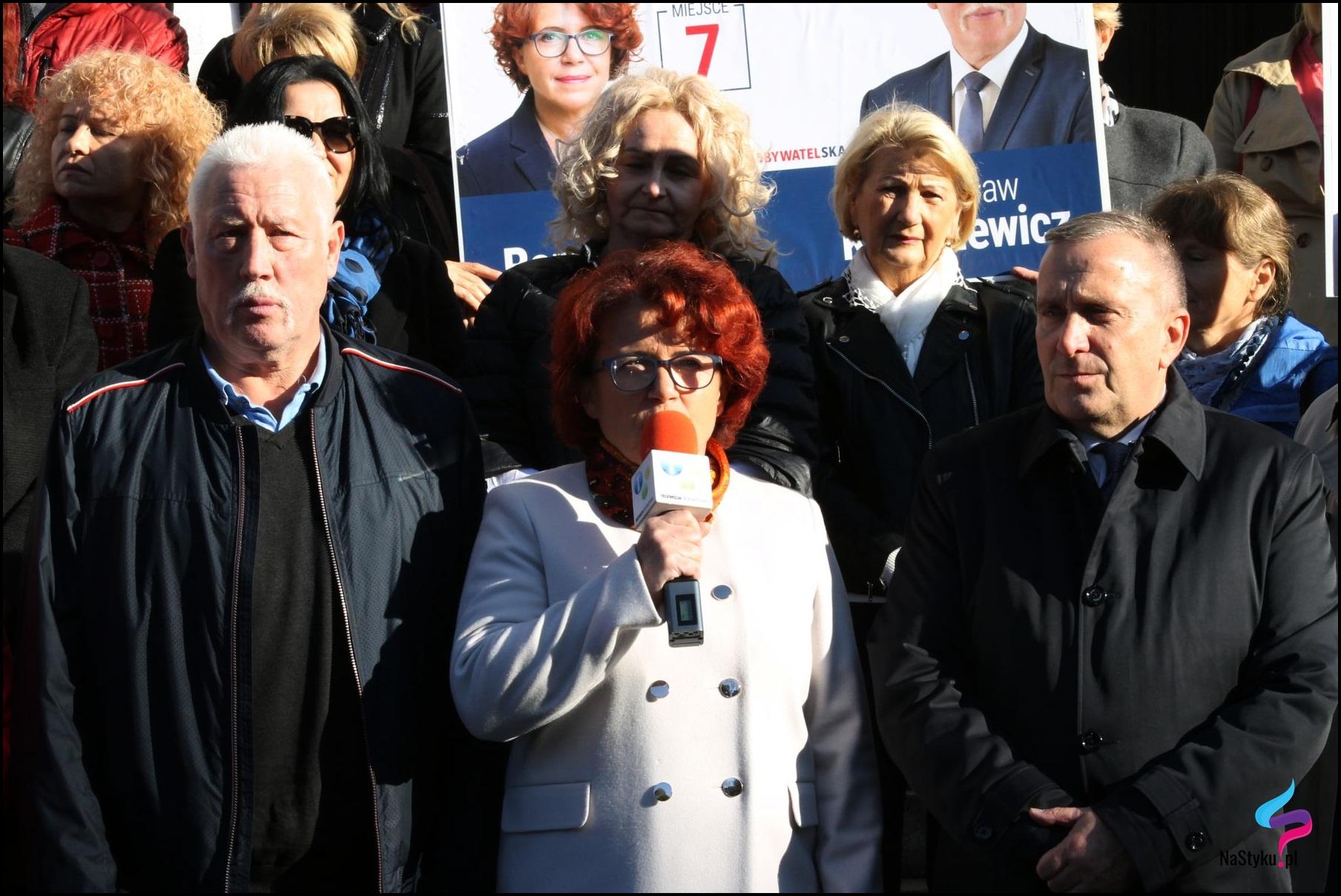 Władysław Kozakiewicz, Dorota Baranowska i Grzegorz Schetyna